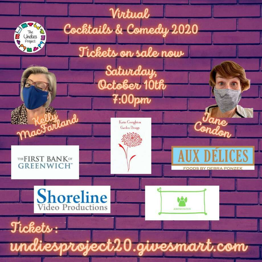 Cocktails & Comedy, a virtual event to benefit The Undies Project will take place this Saturday, Oct. 10, at 7 p.m. Photo: Contributed / The Undies Project