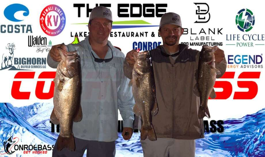 Nick Morton and Langston Johnson won the CONROEBASS Tuesday Night tournament with a stringer weight of 13.132 pounds. Photo: CONROEBASS