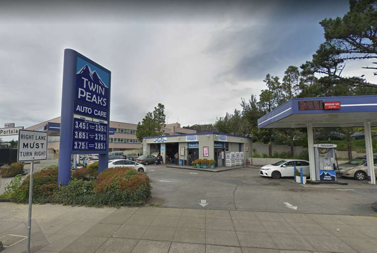 The Twin Peaks Auto Care gas station on Portola Drive in San Francisco.