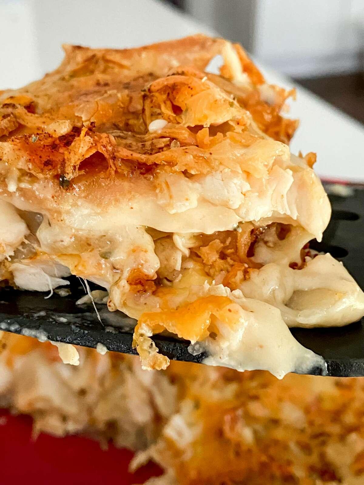 Rotisserie chicken meets scalloped potatoes