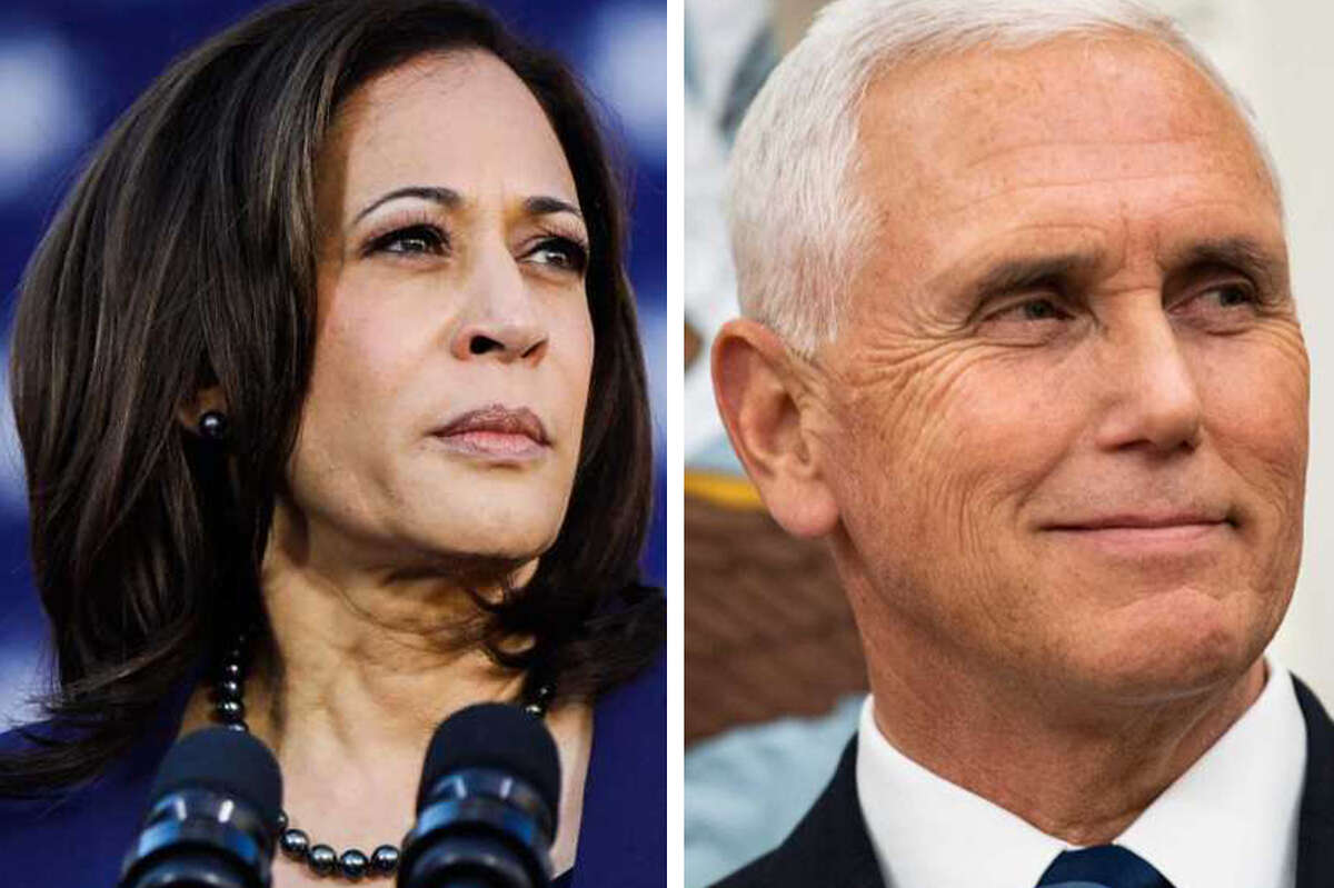 Sen. Kamala Harris and Vice President Mike Pence.