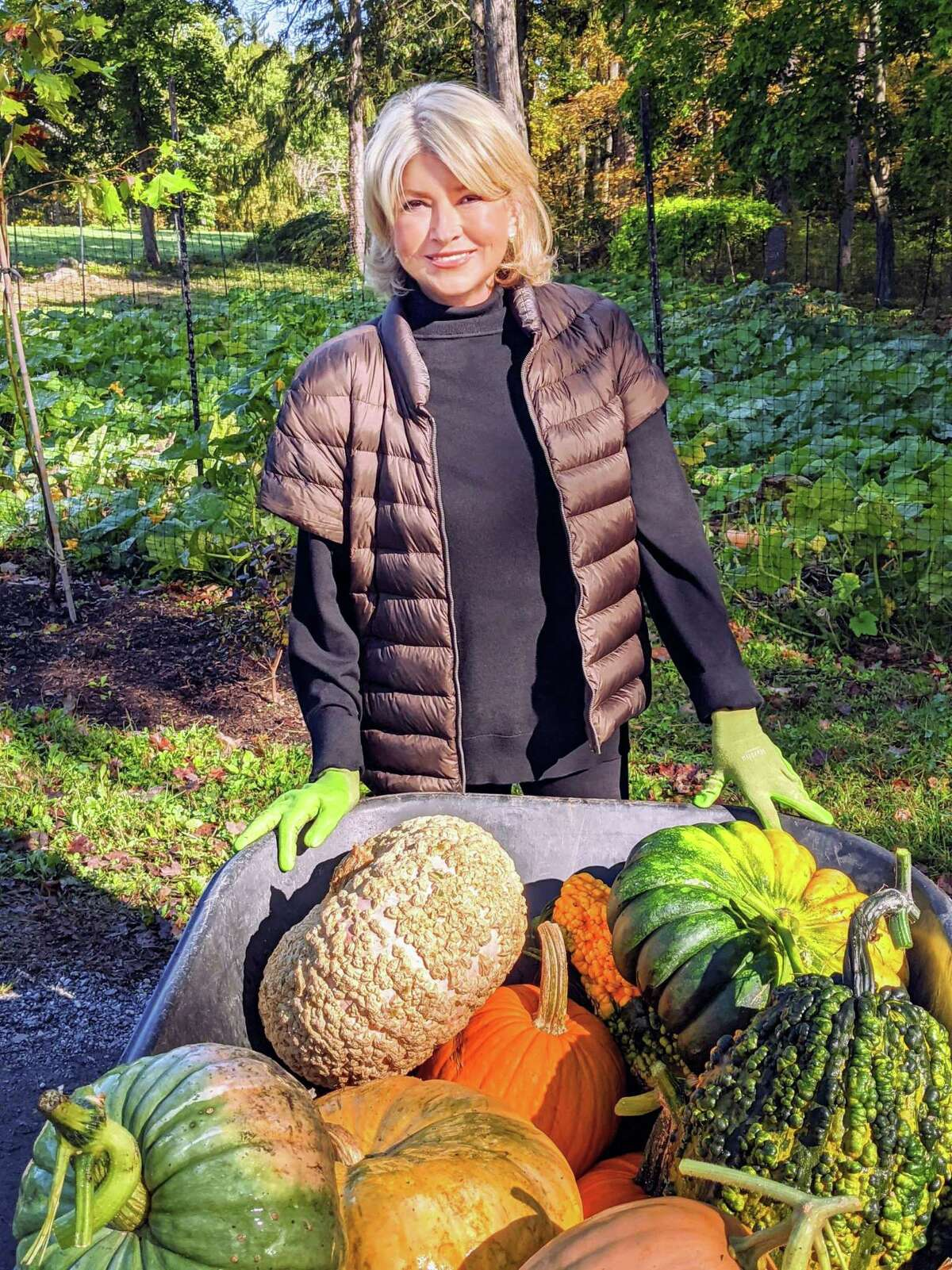 During the second season of her HGTV series premiering Oct. 28, former Westport, Conn., resident Martha Stewart will prep her Bedford, N.Y., farm for autumn and winter, as well as share festive holiday ideas to help families safely celebrate at home. And, once again, Stewart's superfans and celebrity friends will reach out for video check-ins so that she can counsel them on their own home projects. The new season of