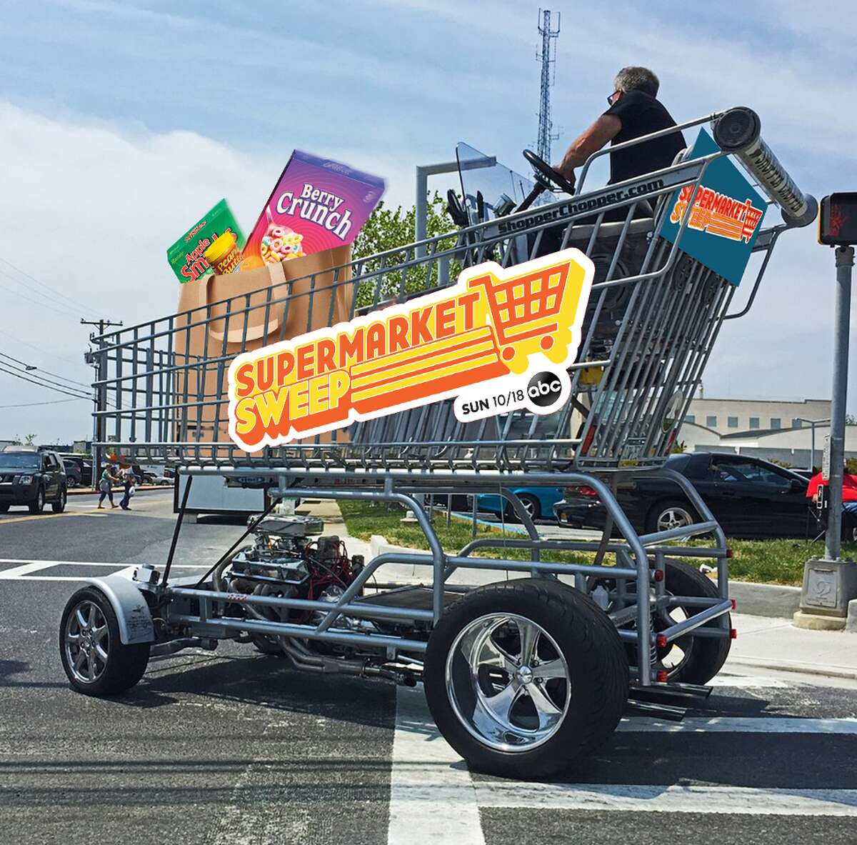 You can see this giant shopping cart at Yale Street Market on Oct. 12.