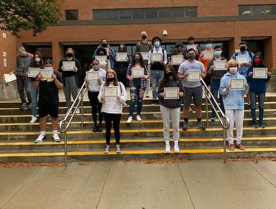 Shelton High School has announced awards for its September students and employee of the month. Photo: Shelton High School / Contributed Photo / Connecticut Post