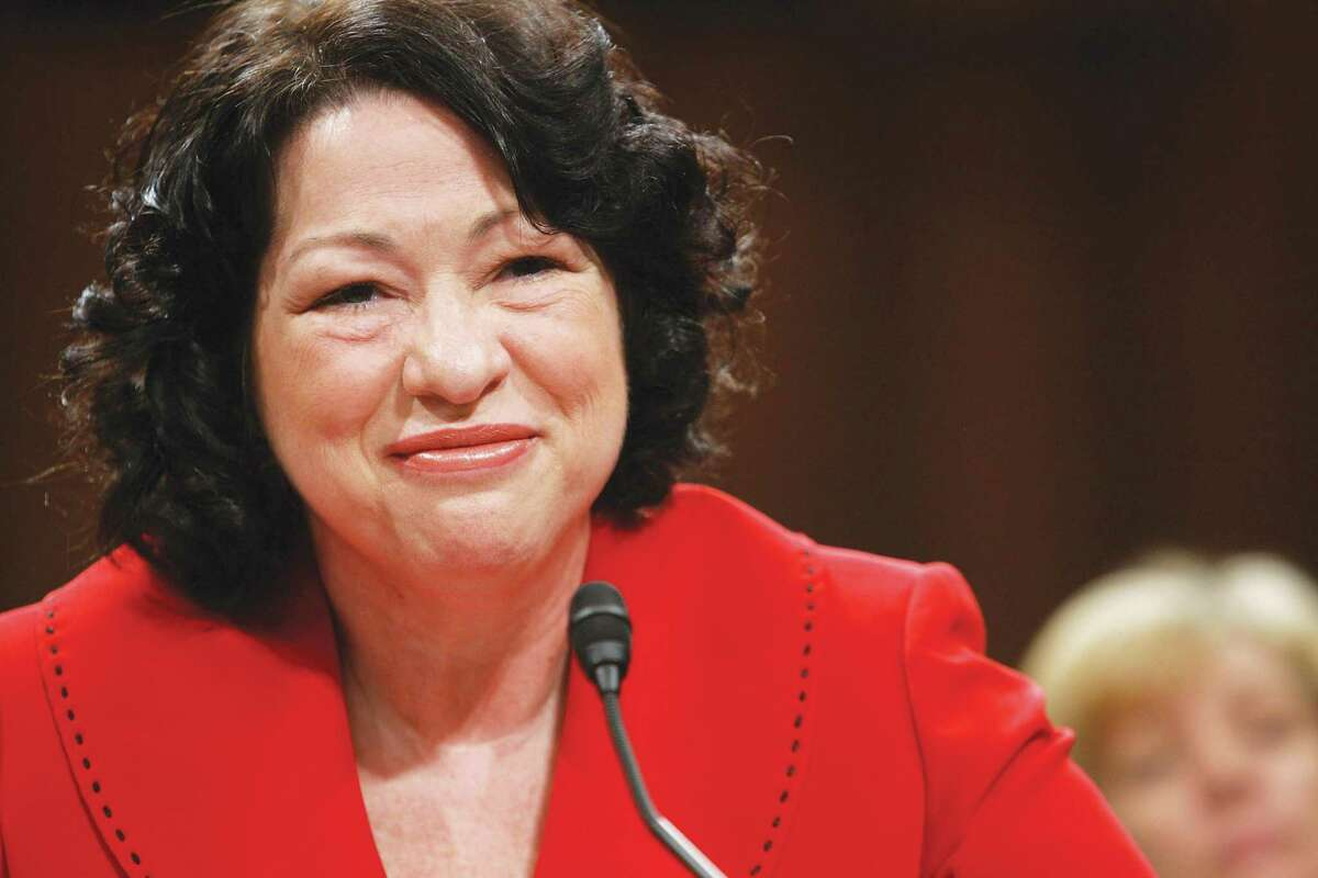 Sonia Sotomayor, then a Supreme Court nominee, answers questions during her confirmation hearing in 2009.