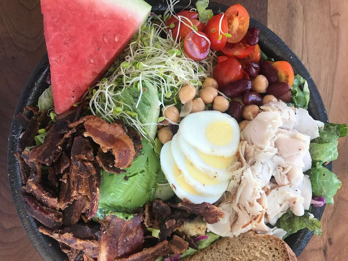 The chef's salad from Intermezzo Cafe in 2017, with turkey and bacon.