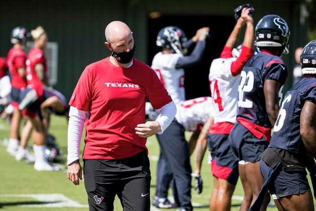 Jack Easterby, executive vice president of football operations, walks across the field as Houston Texans players warm up Wednesday, Oct. 7, 2020, at The Houston Methodist Training Center in Houston. Photo: Brett Coomer, Staff Photographer / © 2020 Houston Chronicle