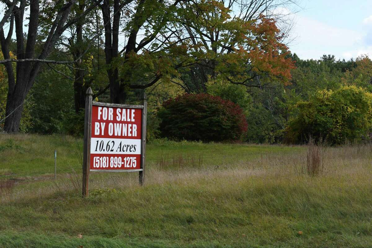 Dunning Road property between Hemphill Place and Fox Wander Road where senior housing is proposed on Monday, Oct. 5, 2020, in Malta, N.Y. (Will Waldron/Times Union)