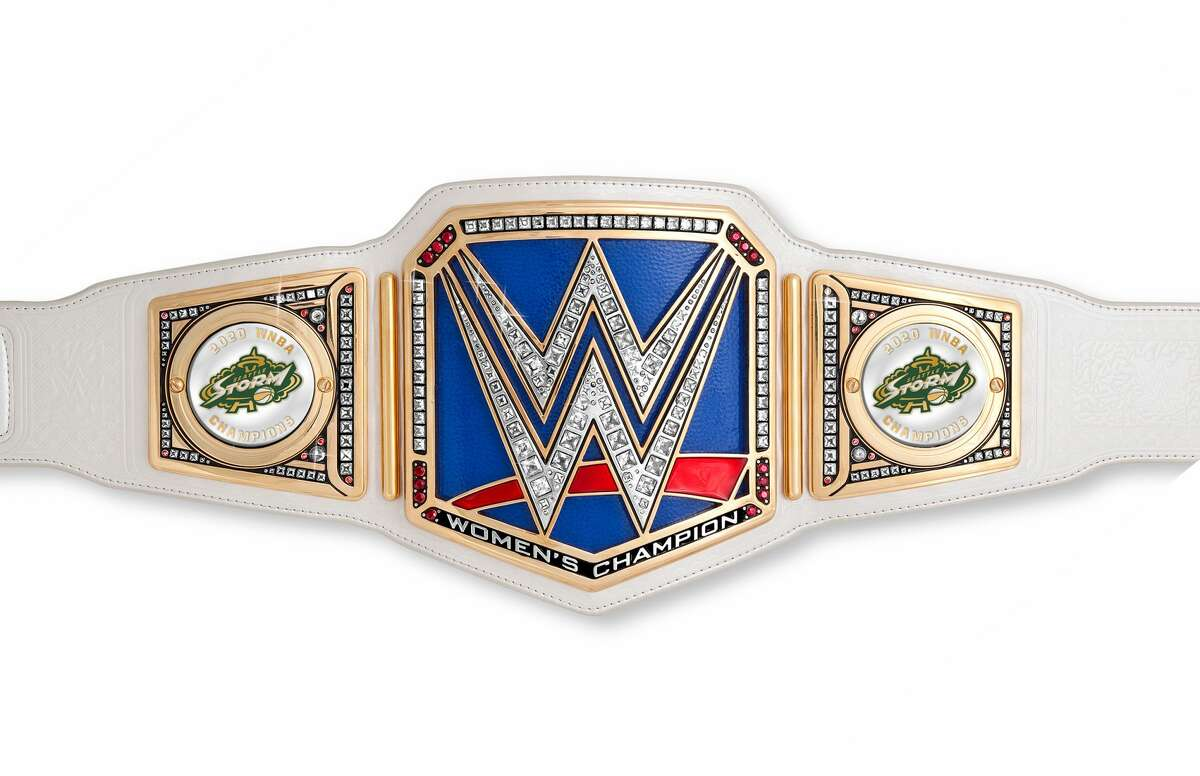"""WWE executive Paul """"Triple H"""" Levesque has sent the Seattle Storm a custom SmackDown Women's Title (belt) with their logo on it to celebrate with after winning their fourth WNBA Championship last night."""