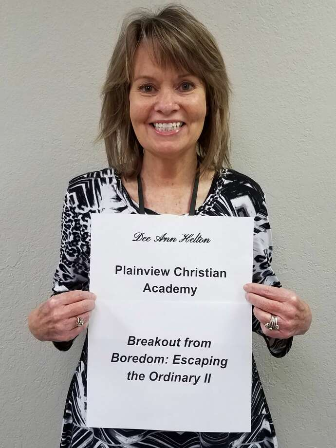 """Dee Ann Helton, a secondary teacher at Plainview Christian Academy, received one of the Mini-Grants for Teachers with her project called """"Breakout from Boredom: Escaping the Ordinary II."""" Photo: Photo Provided By Community Foundation Of West Texas"""