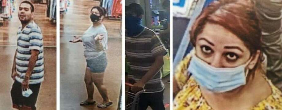 Authorities need to identify these four people in connection with a theft. To provide information, call police at 795-2800 or Laredo Crime Stoppers at 727-TIPS (8477). Photo: Courtesy Photo /Laredo Police Department