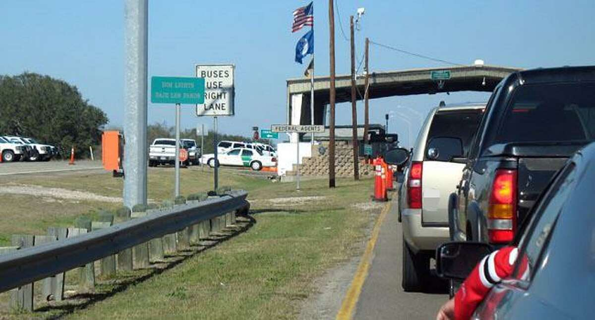 Shown is the U.S. 59 checkpoint near Freer.