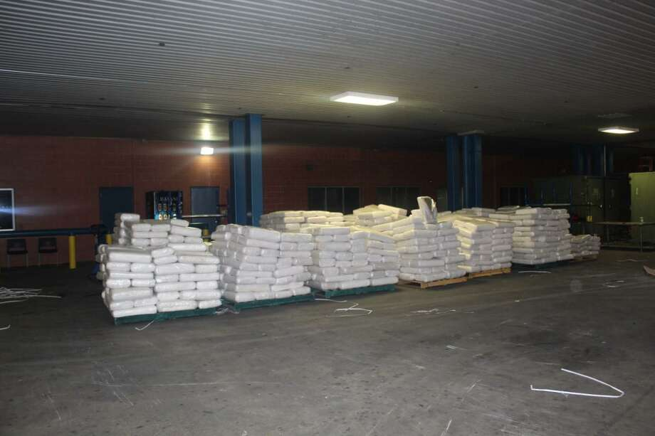 U.S. Customs and Border Protection seized these 13,744 pounds of marijuana at the World Trade Bridge. The contraband had an estimated street value of $2,748,404. Photo: Courtesy Photo /U.S. Customs And Border Protection