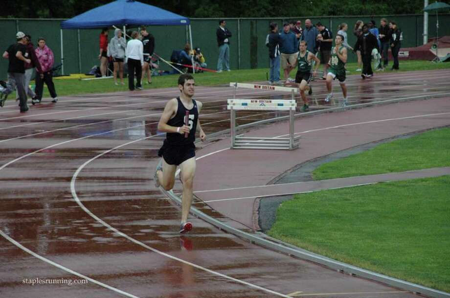 Sam Zorfas was a captain and one of the top distance runners for the Staples indoor and outdoor track teams before graduatig in June. Zorfas will run for Northeastern University. Photo: Mesh, Contributed Photo / Staplesrunning.com / staplesrunning