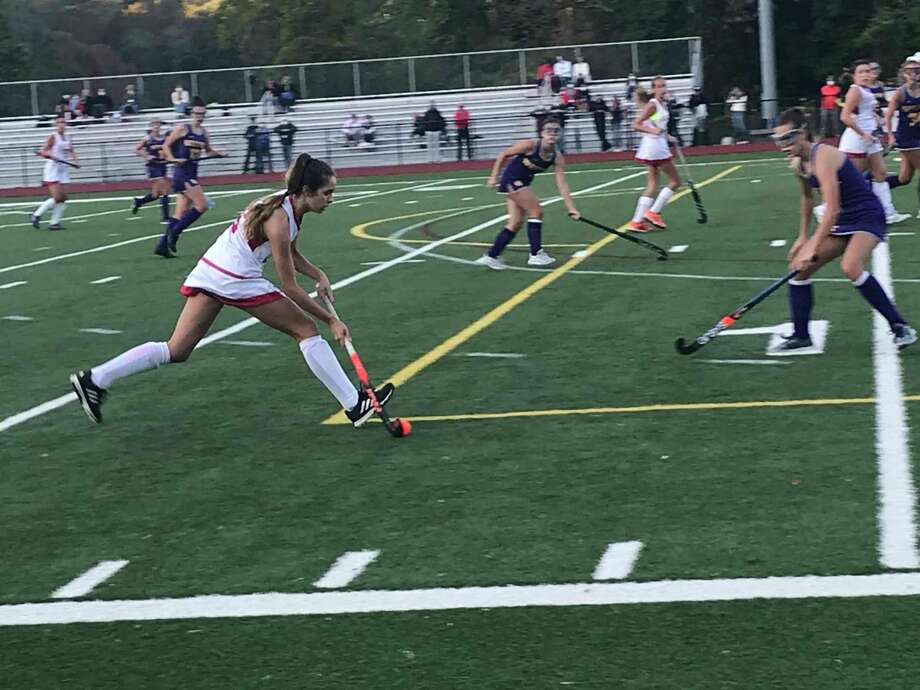 The Greenwich girls field hockey team defeated Westhill, 5-0, on Wednesday, October 7, 2020. Photo: Contributed Photo