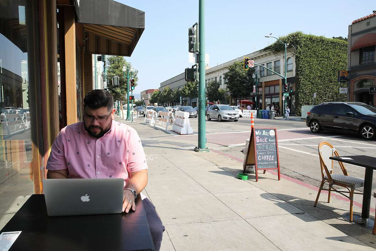 Zack Sutter is back at work at his old job at San Francisco's Turo after almost four months of being laid off.