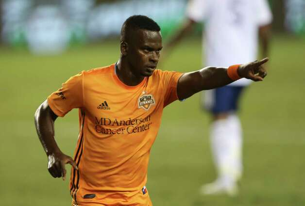 Houston Dynamo forward Darwin Quintero (23) celebrates his goal against the FC Dallas during the first half of a MLS match Wednesday, Oct. 7, 2020, at BBVA Stadium in Houston. Photo: Yi-Chin Lee, Staff Photographer / © 2020 Houston Chronicle