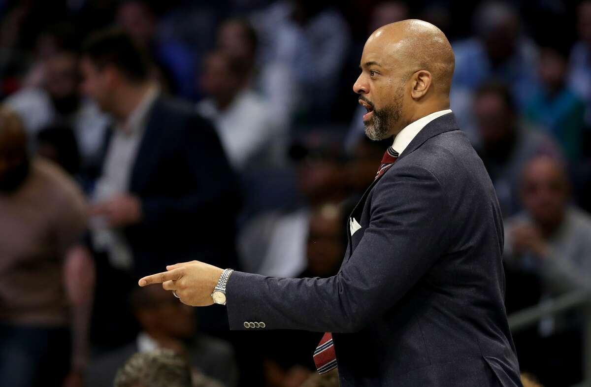 CHARLOTTE, NORTH CAROLINA - FEBRUARY 15: Head coach Wes Unseld Jr. of the World Team looks on during the 2019 Mtn Dew ICE Rising Stars at Spectrum Center on February 15, 2019 in Charlotte, North Carolina. (Photo by Streeter Lecka/Getty Images)