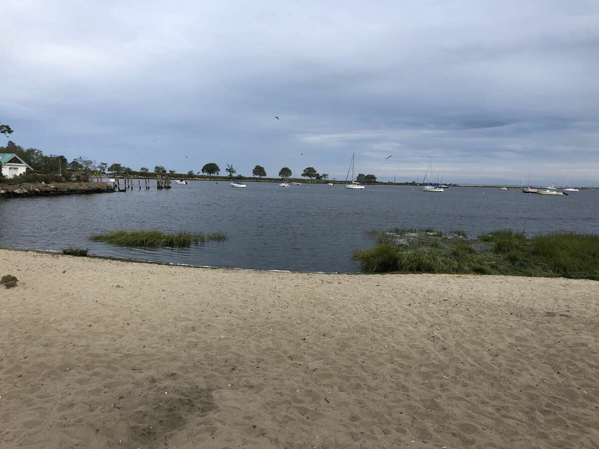 Seabright Beach, Bridgeport Small beach inlet in a residential community.