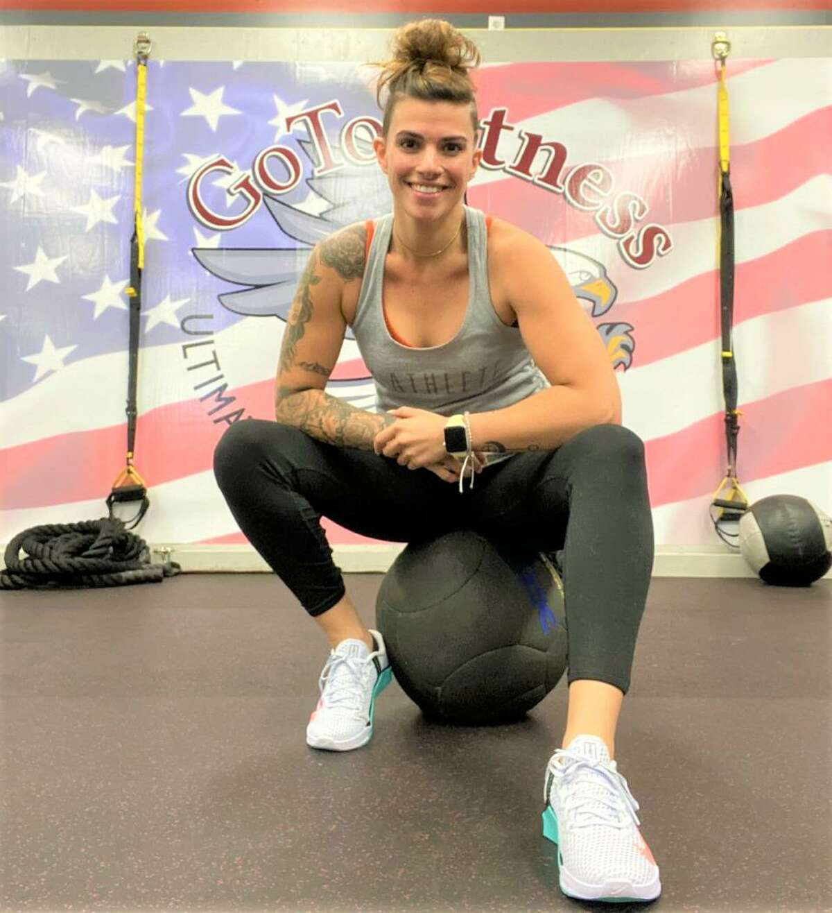 Taylor Arrigoni owns Middletown's GoToFitness Ultimate Training Center at 1385 Newfield St., as well as the new one at 336 Marlborough St. in Portland.
