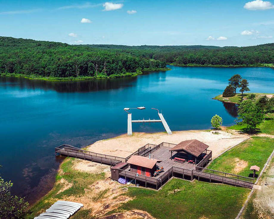 An aerial view of some of Camp Butterfly's amenities. The Girl Scouts of Southern Illinois, which owned the camp near Farmington, Missouri, for more than 40 years, recently sold the property for more than $4.6 million. Photo: Courtesy Of LandLeader