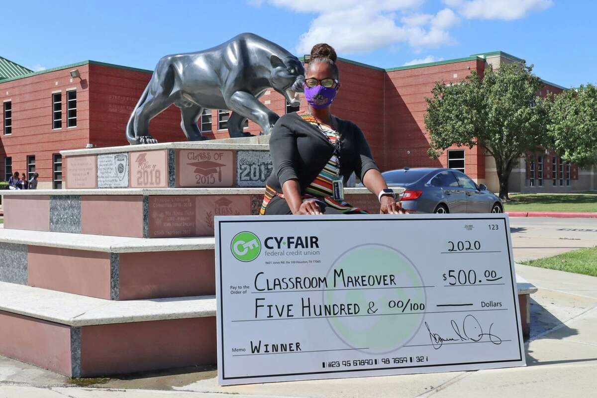 Cy-Fair Federal Credit Union announced the winners and runners up of its Extreme Classroom Makeover competition, which included Cypress Springs High School math teacher Tyran Alfred.