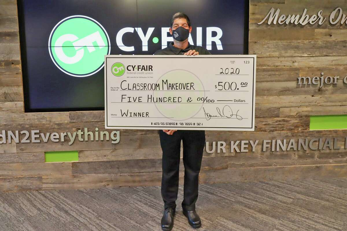 Cy-Fair Federal Credit Union announced the winners and runners up of its Extreme Classroom Makeover competition, which included Cook Middle School Spanish teacher Hector Veronica-Gutierrez.