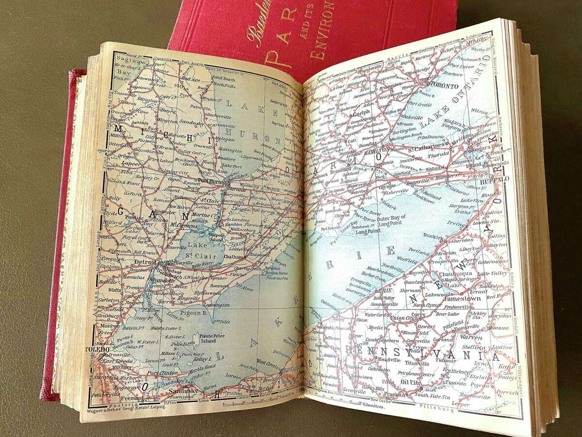A map inside Baedeker's circa-1907 Canada guidebook. Even rare and antique guidebooks have been enjoying a resurgence in popularity.