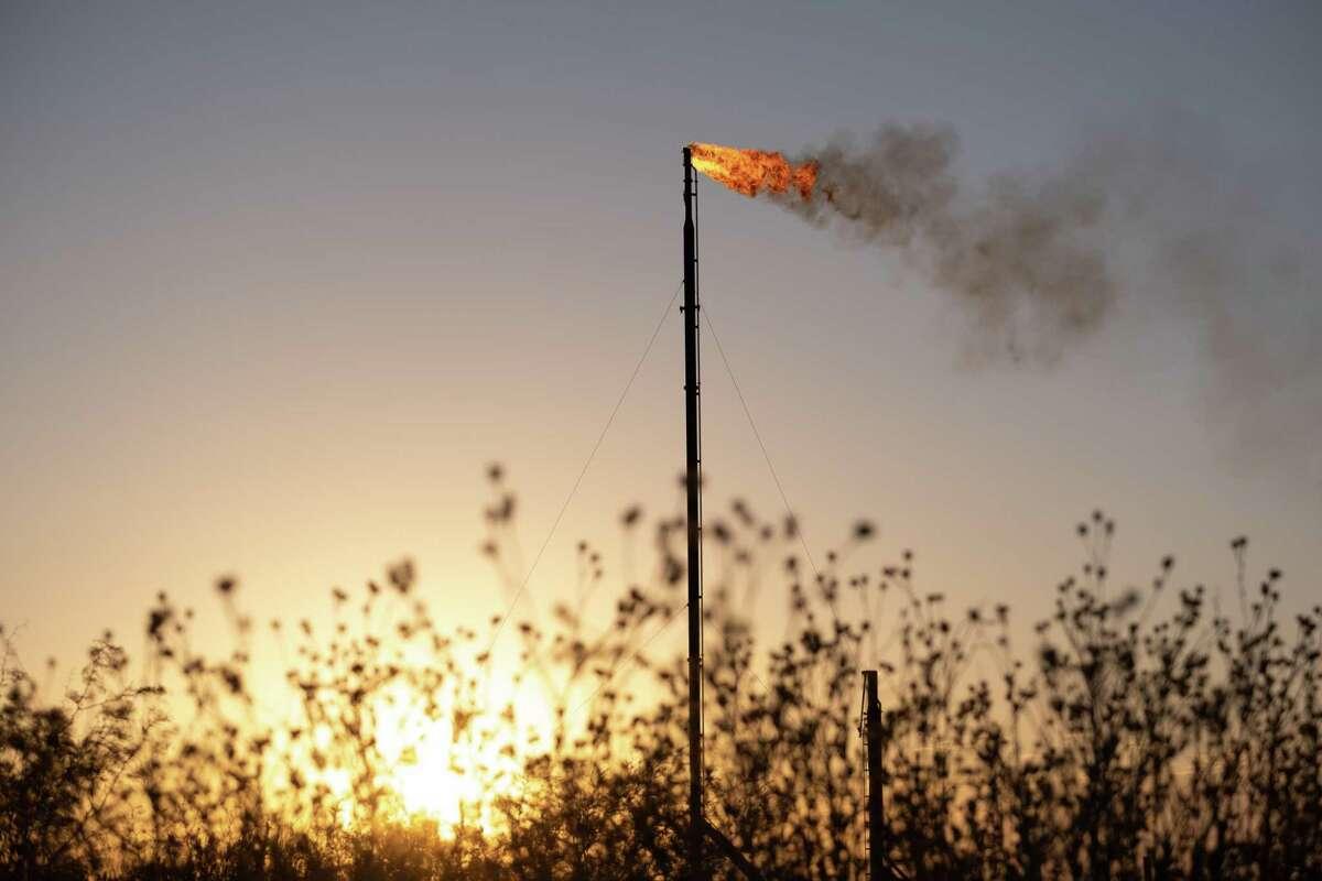 A natural gas facility near Coyanosa, Texas, Aug. 12, 2020. (Jessica Lutz/The New York Times)