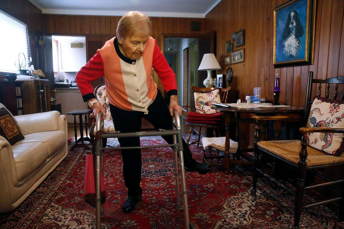 Norma Ratto does her daily exercises at home in Lafayette.