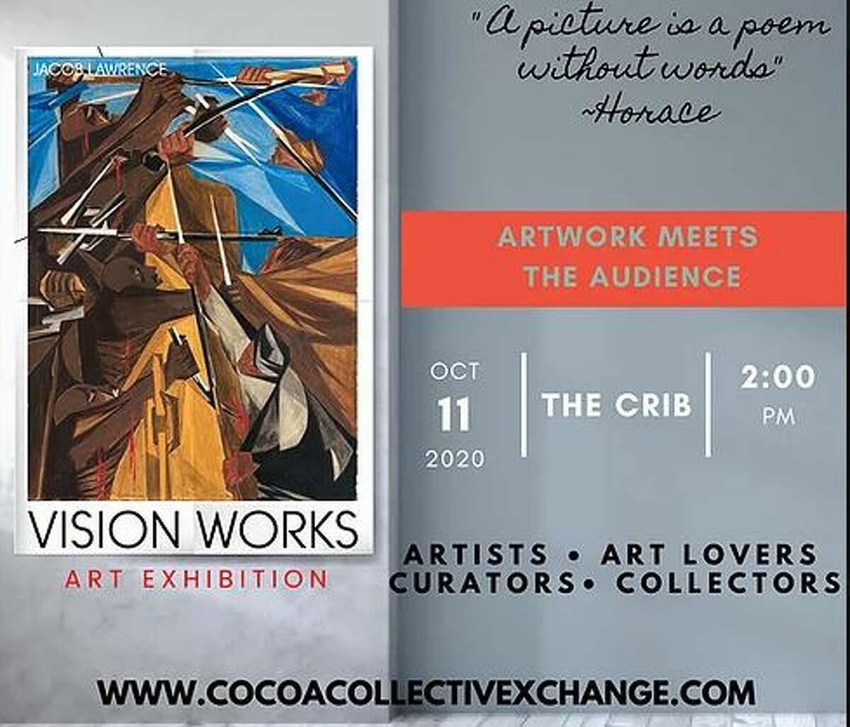 There's nothing quite like a gathering of Houston artists and art lovers. The creativity is unmatched, and the inventive ideas are infinite. That's exactly what Houston's Cocoa Collective Xchange's Arleita Myers is striving for, as she rolls out Vision Works' Art Exhibition on Sunday, October 11.