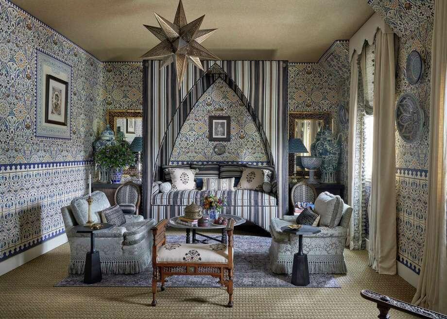 Dallas-based Michelle Nussbaumer designed the daughter's bedroom in the Kips Bay Decorator Show House Dallas. It will be open Sept. 25-Oct. 25, 2020. Photo: Stephen Karlisch, Photographer / Stephen Karlisch