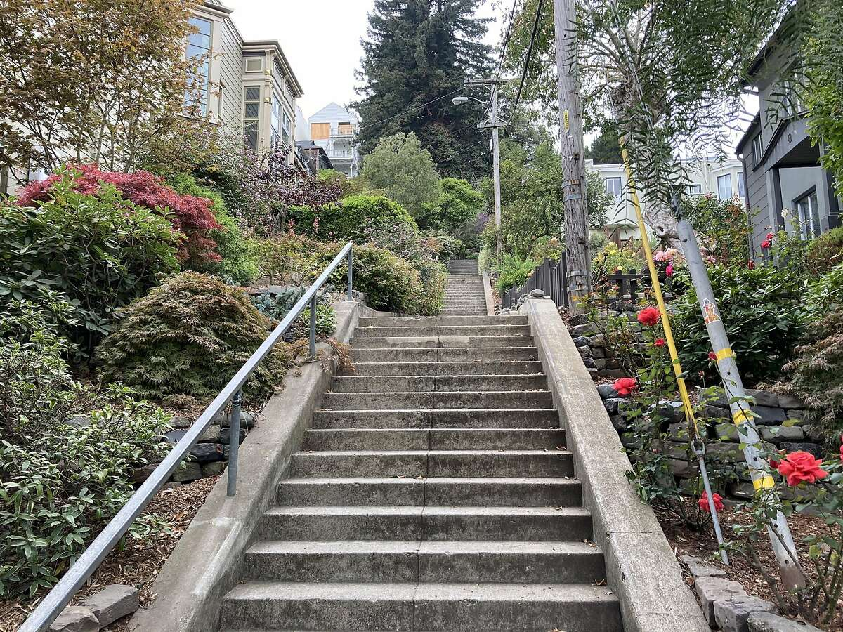 The Vulcan Street Stairs, as seen on Oct. 7, 2020, the day when Jim Jordan, R-Ohio, equated San Francisco to hell on earth.