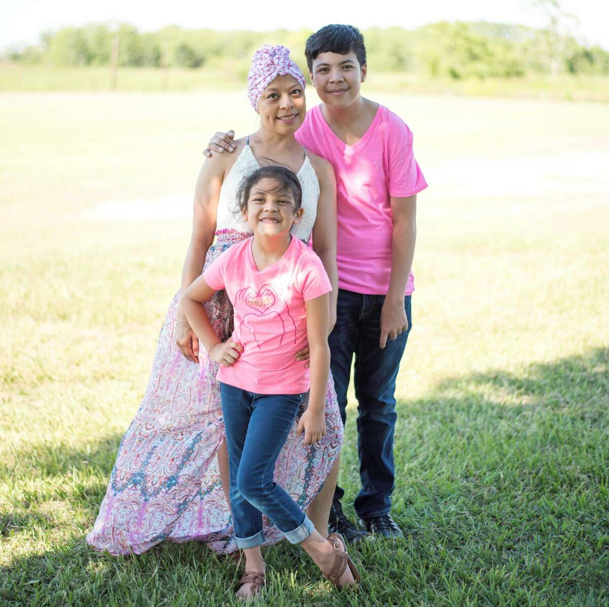 Mejia and her two children, Sabian and Zuly Estella.