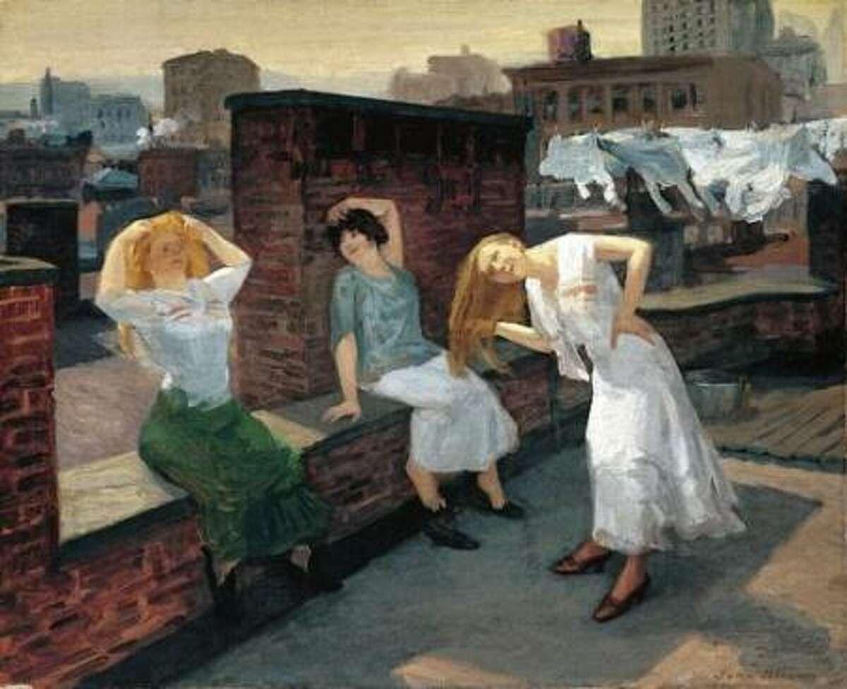 Sunday, Women Drying Their Hair, 1912 by John Sloan
