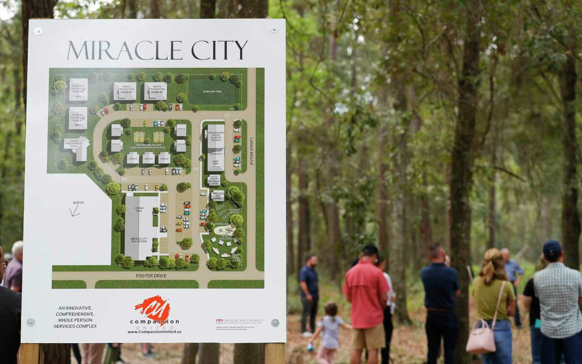 Miracle City, a five-acre, multi-purpose complex to combat homelessness will includes transitional housing, welding shop, carpentry shop, tiny homes, food pantry and a new location for the Conroe House of Prayer along Foster Drive.