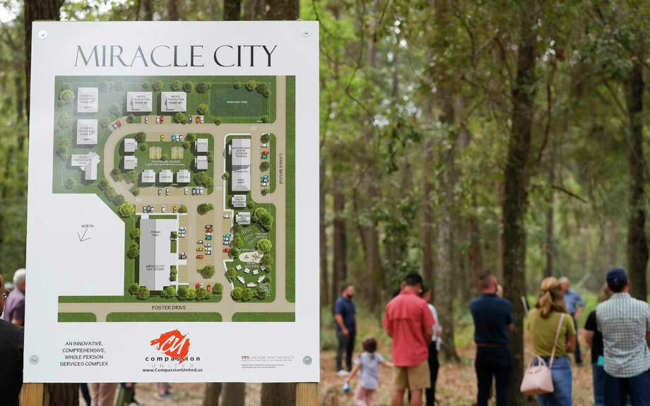 Miracle City, a five-acre, multi-purpose complex to combat homelessness will includes transitional housing, welding shop, carpentry shop, tiny homes, food pantry and a new location for the Conroe House of Prayer along Foster Drive. Photo: Jason Fochtman, Houston Chronicle / Staff Photographer / 2020 © Houston Chronicle