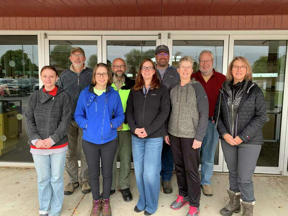 The Midland County Search and Rescue team. Front row, from left: Erica Smerdon, Amanda Sexton, Kelly Cramer, Cindy Vickery, Lisa Hulbert,. Back row,from left, David Willertz, Paul Royce, Kevin Blaser and Kevin Barnum. (Photo provided)