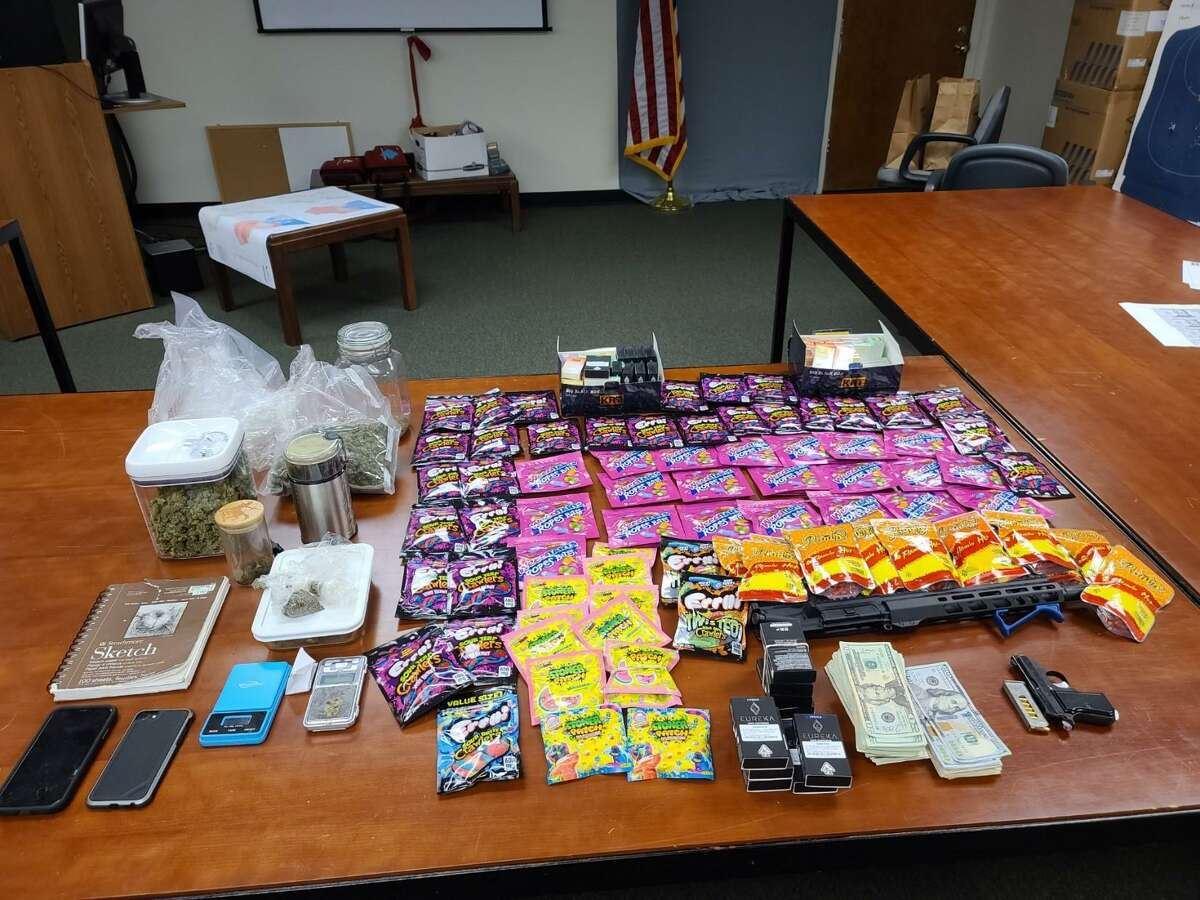 Authorities seized items on Thursday, Oct 8 from a Conroe home, including THC products, marijuana and a firearm.