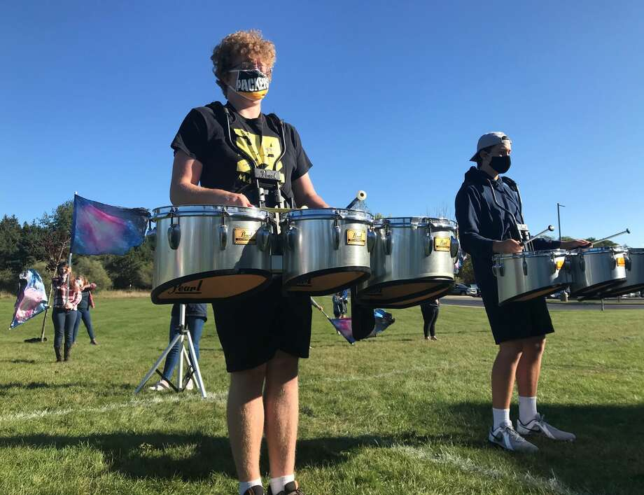 The Manistee High School Marching Band will take to the field before the Chippewas' homecoming game Friday. Photo: Courtesy Photo
