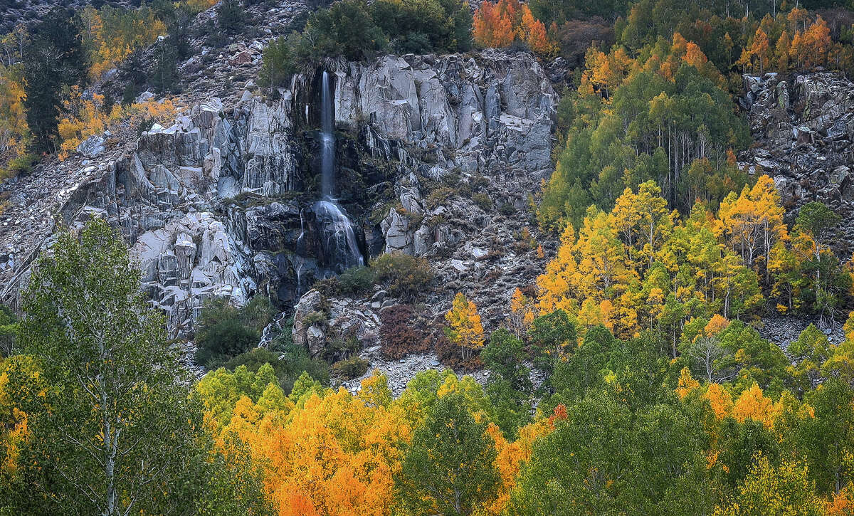 Mist Falls at the south fork of Bishop Creek on Oct. 6, 2020.