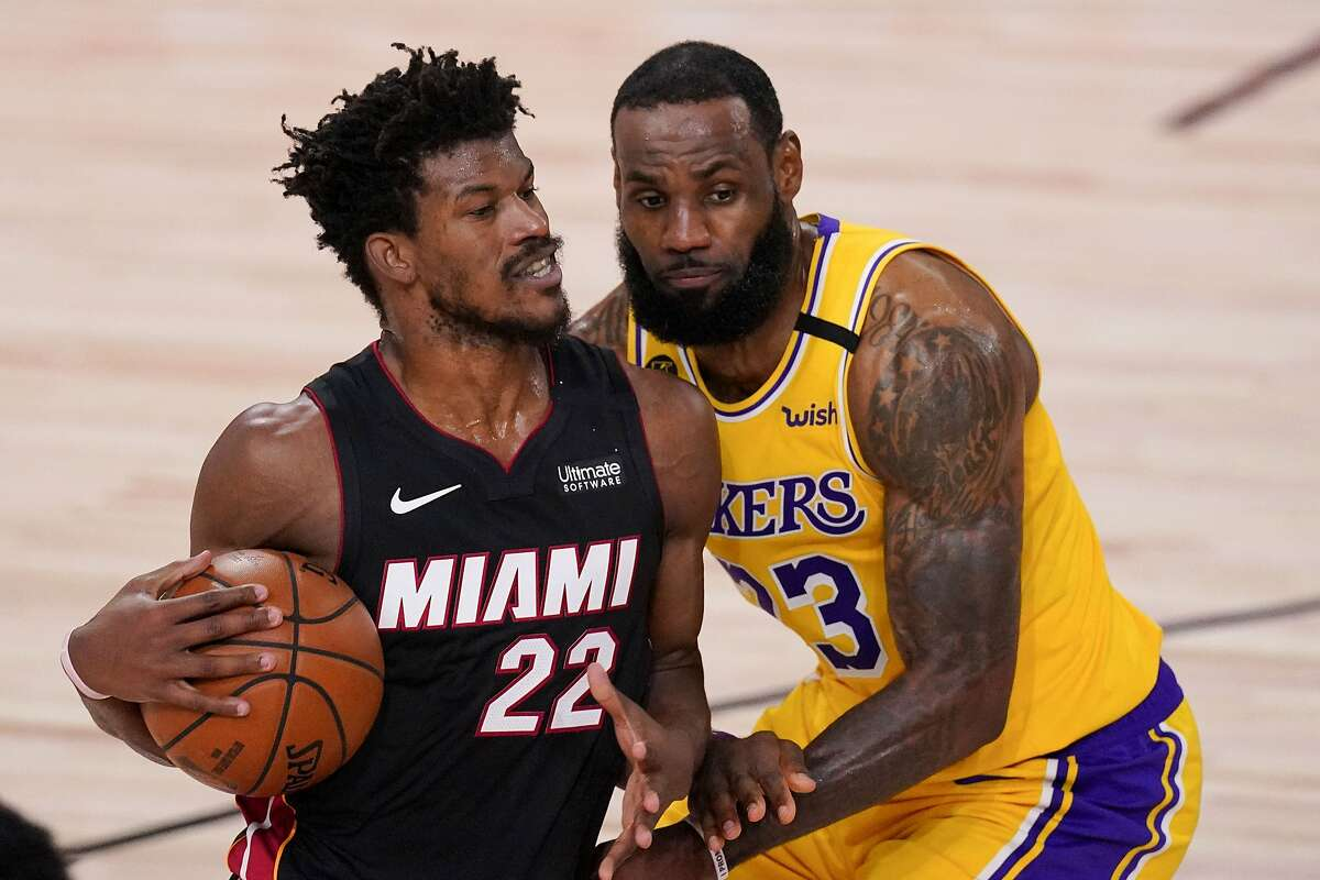 Jimmy Butler and Miami take on LeBron James and the Lakers in Game 5 of the NBA Finals at 6 p.m. Friday (Channels 7, 10/1050).