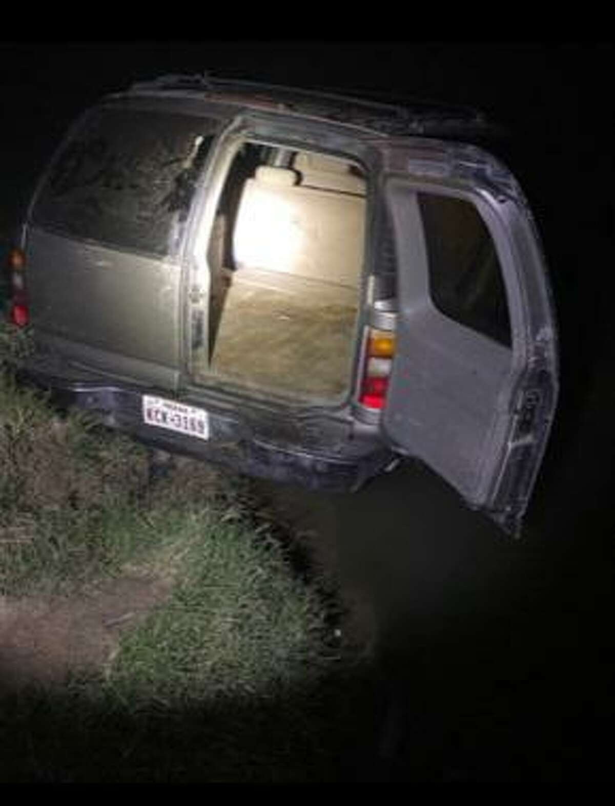 U.S. Border Patrol said this vehicle eluded apprehension and then drove into the Rio Grande. Authorities discovered 300.16 pounds that had an estimated street value of $240,124.