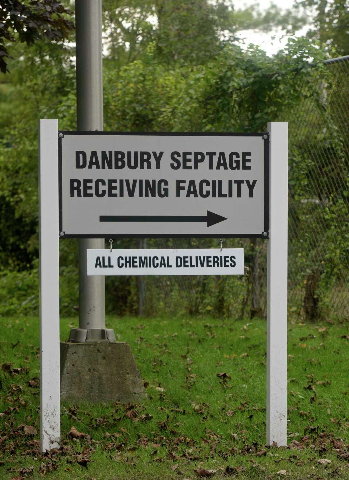 Danbury sewer plant which is being updated to meet state standards and is likely to be renamed after comedian John Oliver. Wednesday, October 7, 2020, in Danbury, Conn. The City Council authorized the renaming in a vote last week. The mayor also spoke about the effort to raise at least $100,000 for local food banks, and how he's planning to lead tours of the sewer plant to people who donate $500 to feedingourneighborschallenge.org.
