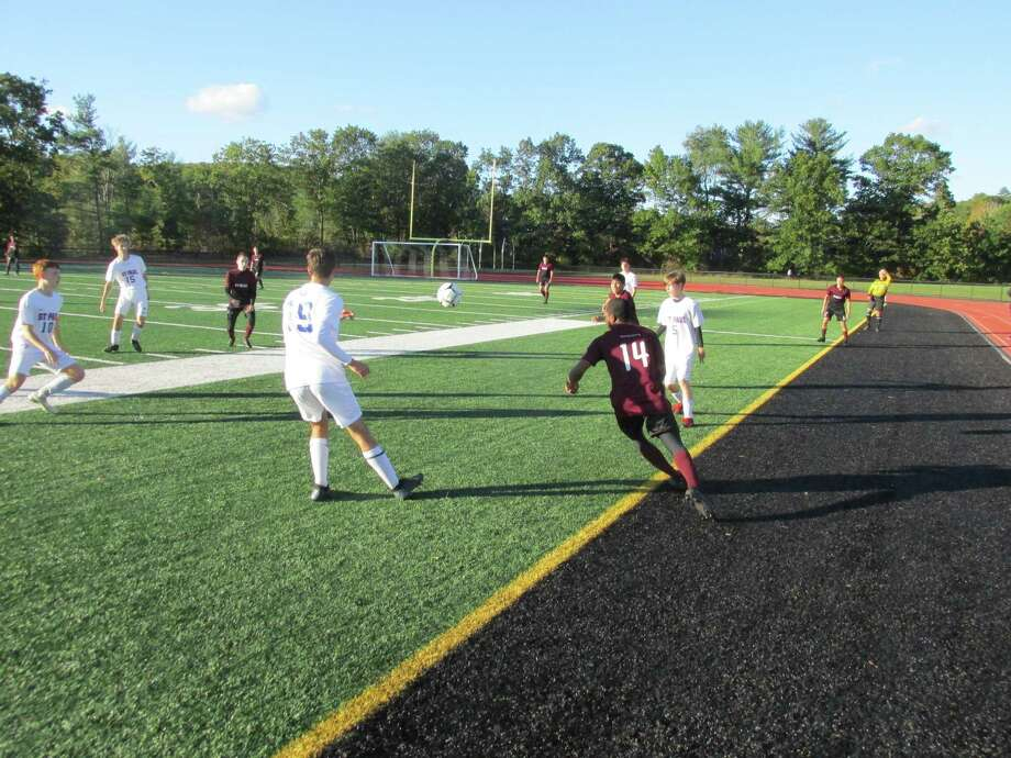For the entire second half of Thursday's win over St. Paul Catholic, Torrington seemed to remember the joy of playing soccer. Photo: Peter Wallace / For Hearst Connecticut Media / Stamford Advocate Freelance