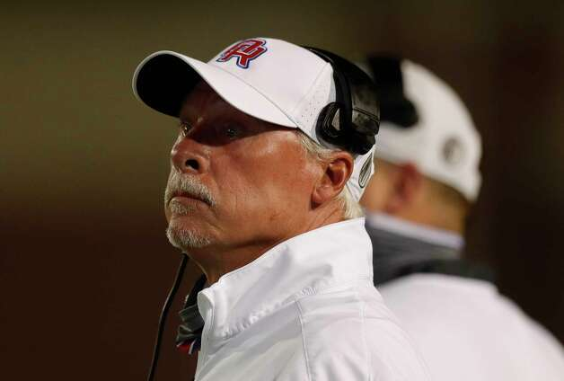 Oak Ridge head coach Mark Schmid is seen during the first quarter of a non-district high school football game at Woodforest Bank Stadium, Thursday, Oct. 8, 2020, in Shenandoah. Photo: Jason Fochtman, Staff Photographer / 2020 © Houston Chronicle