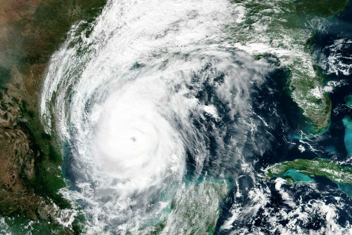 This Thursday, Oct. 8, 2020, satellite image released by NASA Worldview, Earth Observing System Data and Information System (EOSDIS) shows Hurricane Delta. Forecasts showed Delta had strengthened back into a Category 3 hurricane, expecting to arrive Louisiana on Friday evening. (NASA via AP)