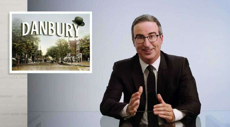 """Comedian John Oliver joking said on his TV show he wanted to give residents of Danbury, Connecticut a """"thrashing."""" Now, city officials and Oliver have come to an agreement to rename Danbury's wastewater treatment facility the """"John Oliver Memorial Sewer Plant."""" Photo: Associated Press Photo"""