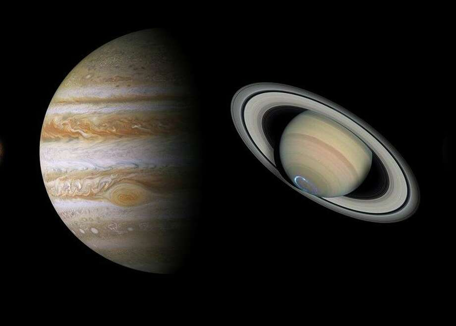 Jupiter and Saturn are shining brightly in the autumn sky. Photo: Woodcock Nature Center / Contributed Photo / Wilton Bulletin Contributed