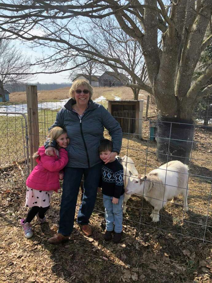 """In her free time, Clark said she enjoys spending time with her grandkids, Piper and Oscar. """"Oscar is named after my dad, so that was a real honor,"""" she said. (Courtesy photo)"""